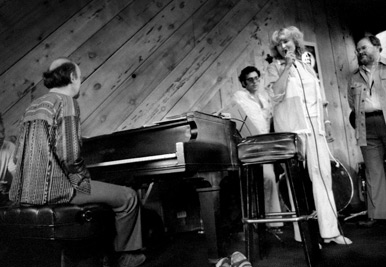 Norwegian vocalist Karin Krog, (recognized as the top European jazz vocalist); with Larry Vuckovich piano; Frank Tusa, bass; Gary Foster, reeds; drummer Eddie Moore (not visible)