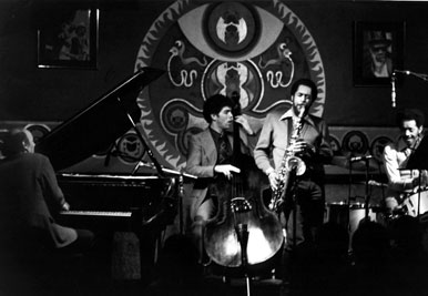 Larry Vuckovich with Charles Bowen on tenor, Philly Joe Jones on drums, and Andy McKee on bass [photo by Brian McMillen]
