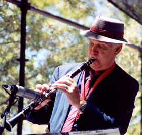 Multi-instrumental, multi-talented Noel Jewkes takes a clarinet solo during the festival.