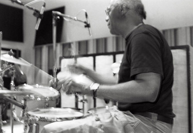Eddie Marshall, drums (both on LP, and the new release)