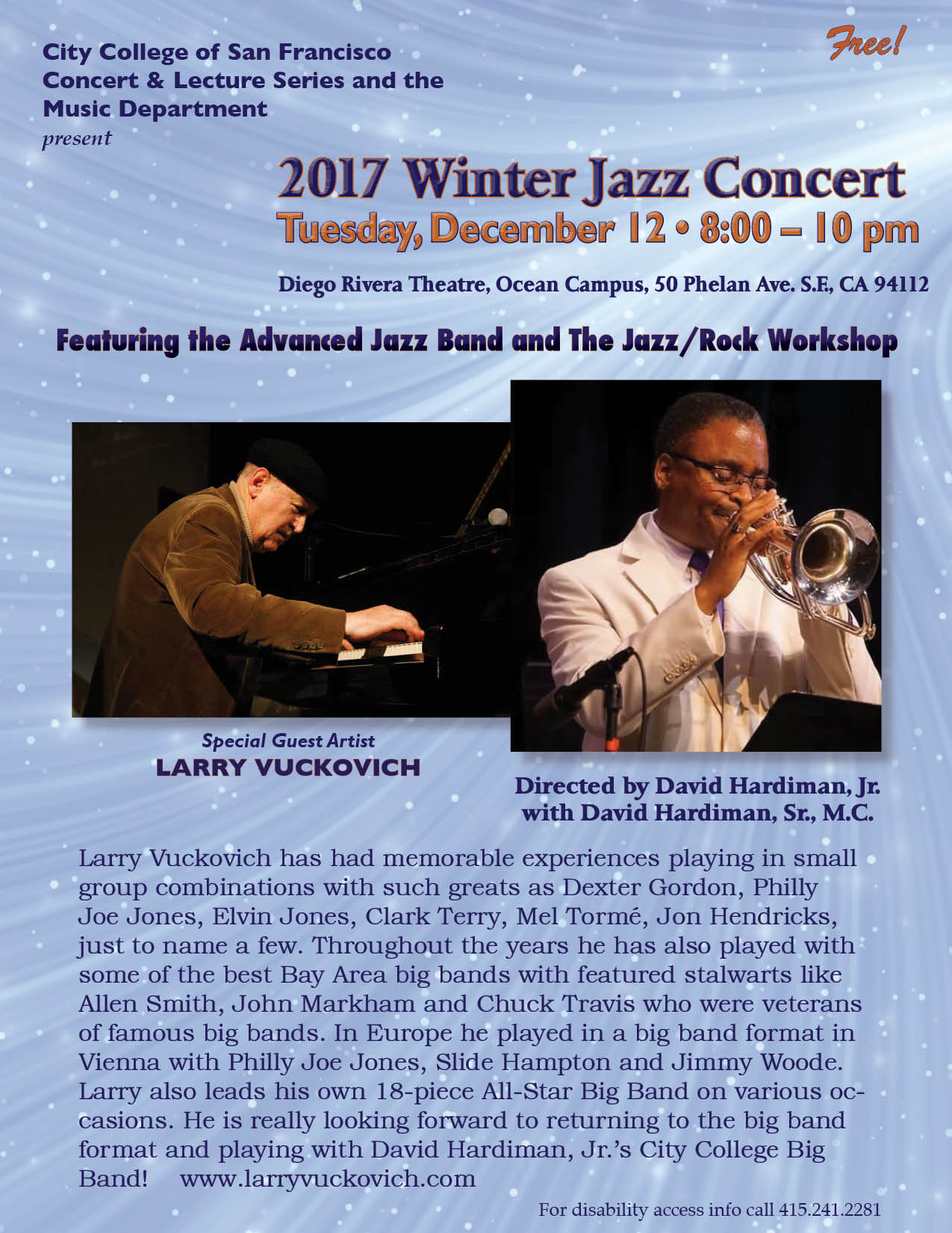 Larry Vuckovich - Internationally Acclaimed Jazz Pianist